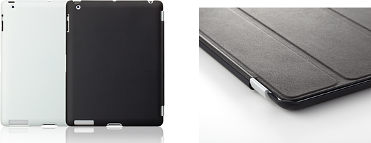 SoftBank SELECTION ラバーケース for iPad(3rd/2nd)/iPad Smart Cover併用タイプ