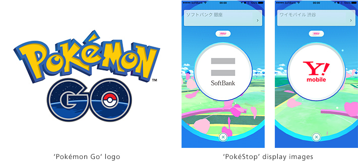 'Pokémon GO' logo / 'PokéStops' display images