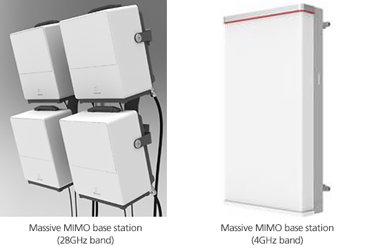 Massive MIMO base station (28GHz band) / Massive MIMO base station (4GHz band)