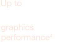 Up to 50% faster graphics performance4