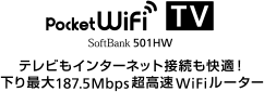 Pocket WiFi 501HW:ネットもテレビも、Pocket WiFi